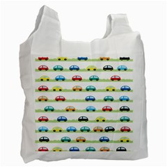 Small Car Red Yellow Blue Orange Black Kids Recycle Bag (One Side)