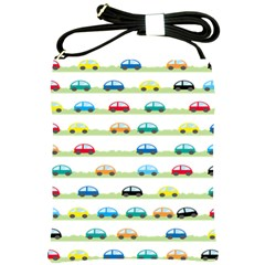 Small Car Red Yellow Blue Orange Black Kids Shoulder Sling Bags