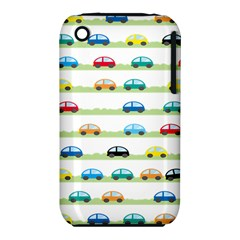 Small Car Red Yellow Blue Orange Black Kids iPhone 3S/3GS
