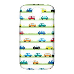 Small Car Red Yellow Blue Orange Black Kids Samsung Galaxy S4 Classic Hardshell Case (PC+Silicone)