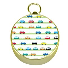 Small Car Red Yellow Blue Orange Black Kids Gold Compasses