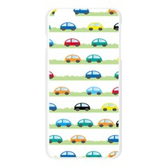 Small Car Red Yellow Blue Orange Black Kids Apple Seamless iPhone 6 Plus/6S Plus Case (Transparent)