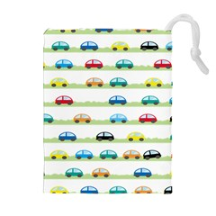 Small Car Red Yellow Blue Orange Black Kids Drawstring Pouches (Extra Large)