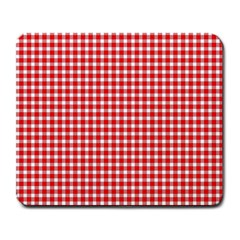 Plaid Red White Line Large Mousepads