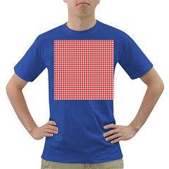 Plaid Red White Line Dark T-Shirt
