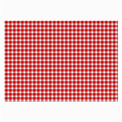 Plaid Red White Line Large Glasses Cloth