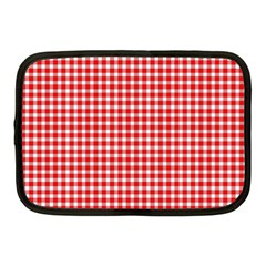 Plaid Red White Line Netbook Case (Medium)