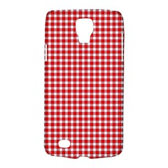 Plaid Red White Line Galaxy S4 Active