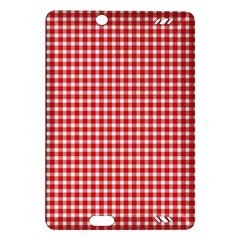 Plaid Red White Line Amazon Kindle Fire HD (2013) Hardshell Case