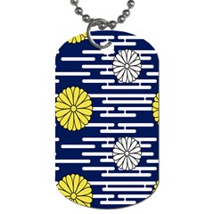 Sunflower Line Blue Yellpw Dog Tag (One Side)