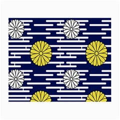 Sunflower Line Blue Yellpw Small Glasses Cloth
