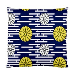 Sunflower Line Blue Yellpw Standard Cushion Case (Two Sides)