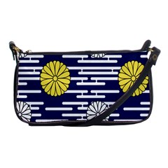 Sunflower Line Blue Yellpw Shoulder Clutch Bags