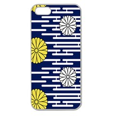 Sunflower Line Blue Yellpw Apple Seamless iPhone 5 Case (Clear)