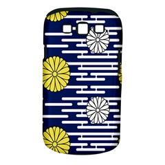 Sunflower Line Blue Yellpw Samsung Galaxy S III Classic Hardshell Case (PC+Silicone)