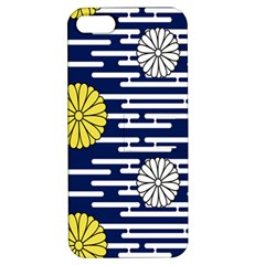 Sunflower Line Blue Yellpw Apple iPhone 5 Hardshell Case with Stand