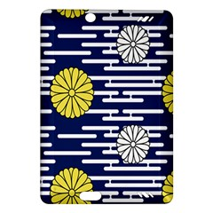 Sunflower Line Blue Yellpw Amazon Kindle Fire HD (2013) Hardshell Case