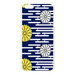 Sunflower Line Blue Yellpw Apple Seamless iPhone 6 Plus/6S Plus Case (Transparent)