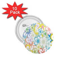 Star Flower Rainbow Sunflower Sakura 1.75  Buttons (10 pack)