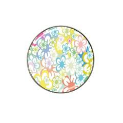 Star Flower Rainbow Sunflower Sakura Hat Clip Ball Marker (4 pack)