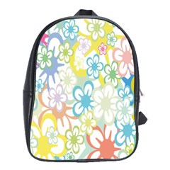 Star Flower Rainbow Sunflower Sakura School Bags(Large)