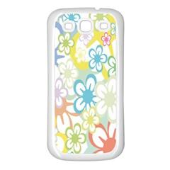 Star Flower Rainbow Sunflower Sakura Samsung Galaxy S3 Back Case (White)