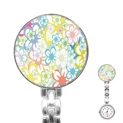 Star Flower Rainbow Sunflower Sakura Stainless Steel Nurses Watch