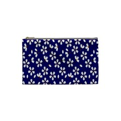 Star Flower Blue White Cosmetic Bag (Small)