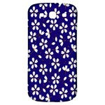 Star Flower Blue White Samsung Galaxy S3 S III Classic Hardshell Back Case Front