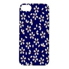 Star Flower Blue White Apple iPhone 5S/ SE Hardshell Case