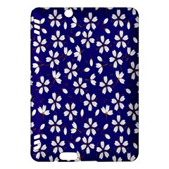 Star Flower Blue White Kindle Fire Hdx Hardshell Case