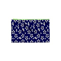 Star Flower Blue White Cosmetic Bag (XS)