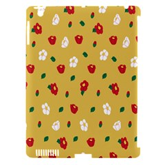 Tulip Sunflower Sakura Flower Floral Red White Leaf Green Apple iPad 3/4 Hardshell Case (Compatible with Smart Cover)