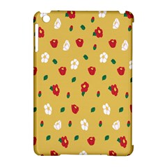 Tulip Sunflower Sakura Flower Floral Red White Leaf Green Apple iPad Mini Hardshell Case (Compatible with Smart Cover)