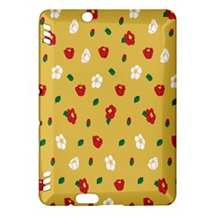 Tulip Sunflower Sakura Flower Floral Red White Leaf Green Kindle Fire HDX Hardshell Case