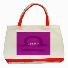 Zodizc Libra Purple Classic Tote Bag (Red)