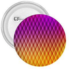 Triangle Plaid Chevron Wave Pink Purple Yellow Rainbow 3  Buttons