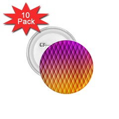 Triangle Plaid Chevron Wave Pink Purple Yellow Rainbow 1.75  Buttons (10 pack)
