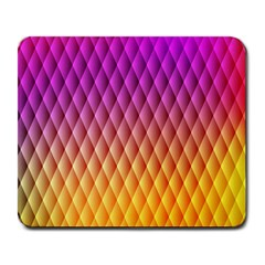 Triangle Plaid Chevron Wave Pink Purple Yellow Rainbow Large Mousepads