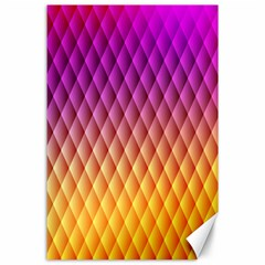Triangle Plaid Chevron Wave Pink Purple Yellow Rainbow Canvas 24  x 36