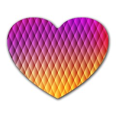 Triangle Plaid Chevron Wave Pink Purple Yellow Rainbow Heart Mousepads