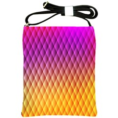 Triangle Plaid Chevron Wave Pink Purple Yellow Rainbow Shoulder Sling Bags