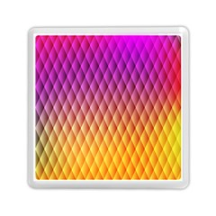 Triangle Plaid Chevron Wave Pink Purple Yellow Rainbow Memory Card Reader (Square)