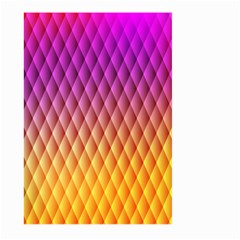 Triangle Plaid Chevron Wave Pink Purple Yellow Rainbow Large Garden Flag (Two Sides)