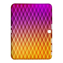Triangle Plaid Chevron Wave Pink Purple Yellow Rainbow Samsung Galaxy Tab 4 (10.1 ) Hardshell Case