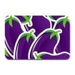 Vegetable Eggplant Purple Green Plate Mats 18 x12 Plate Mat - 1