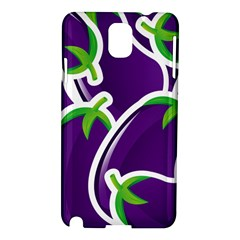 Vegetable Eggplant Purple Green Samsung Galaxy Note 3 N9005 Hardshell Case