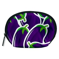 Vegetable Eggplant Purple Green Accessory Pouches (Medium)
