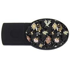 Traditional Music Drum Batik USB Flash Drive Oval (2 GB)