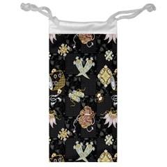 Traditional Music Drum Batik Jewelry Bag